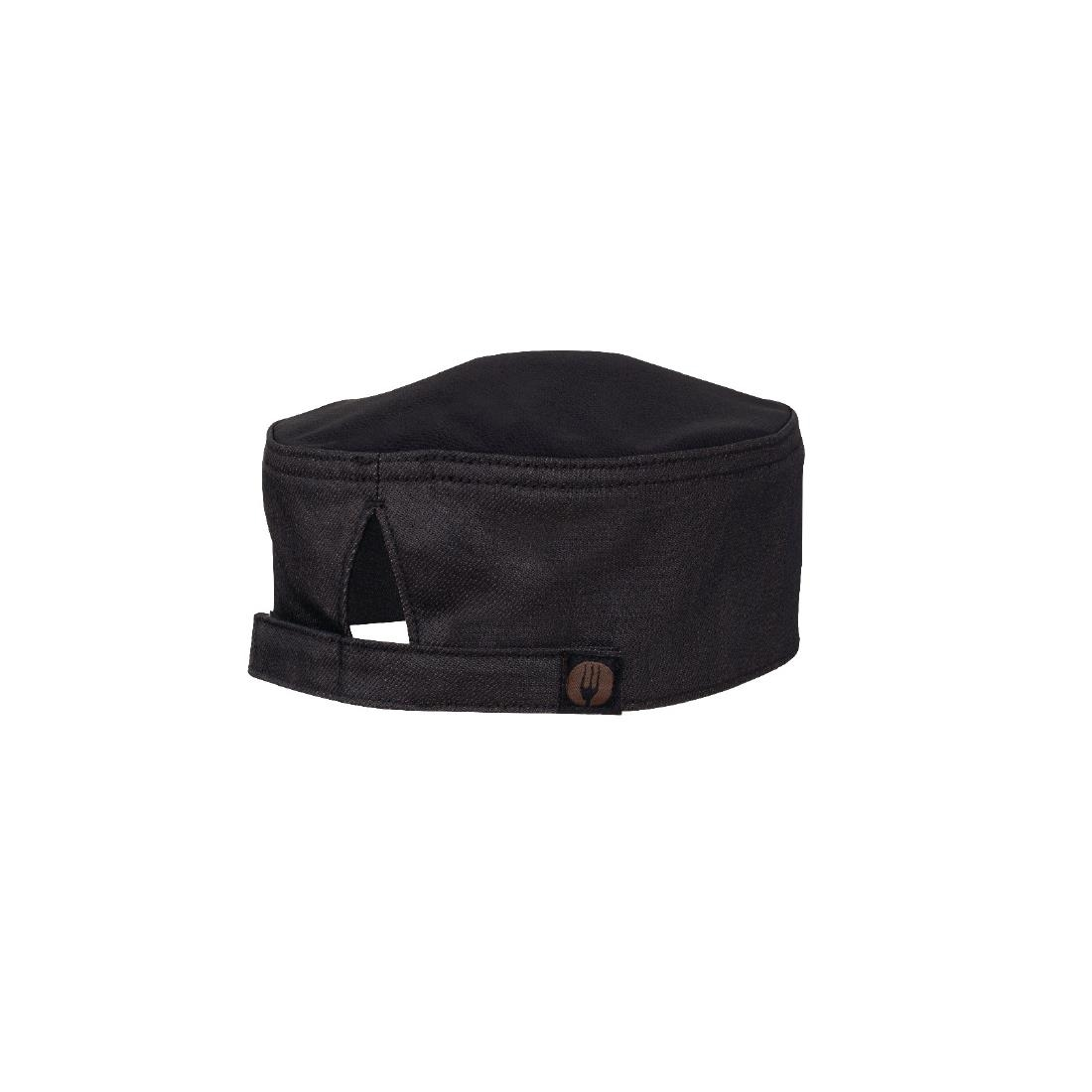 Image of Chef Works Urban Cool Vent Boulder Wet Look Beanie Black Brown