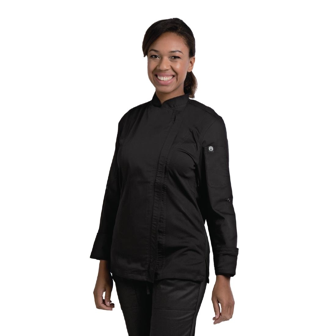 Click to view product details and reviews for Chef Works Hartford Lightweight Zip Womens Chef Jacket Black M.