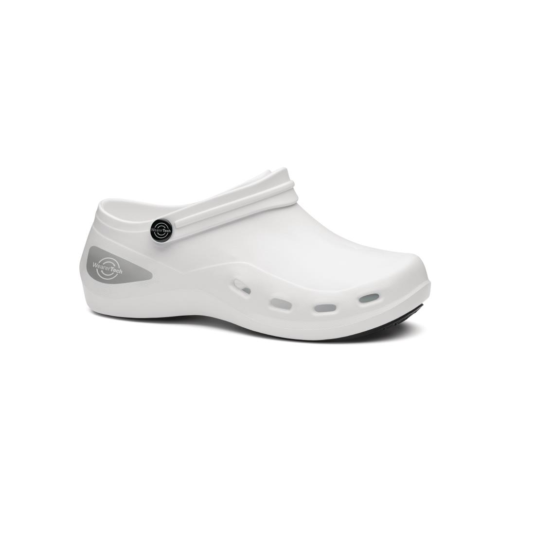 Click to view product details and reviews for Wearertech Unisex Invigorate White Safety Shoe Size 4.