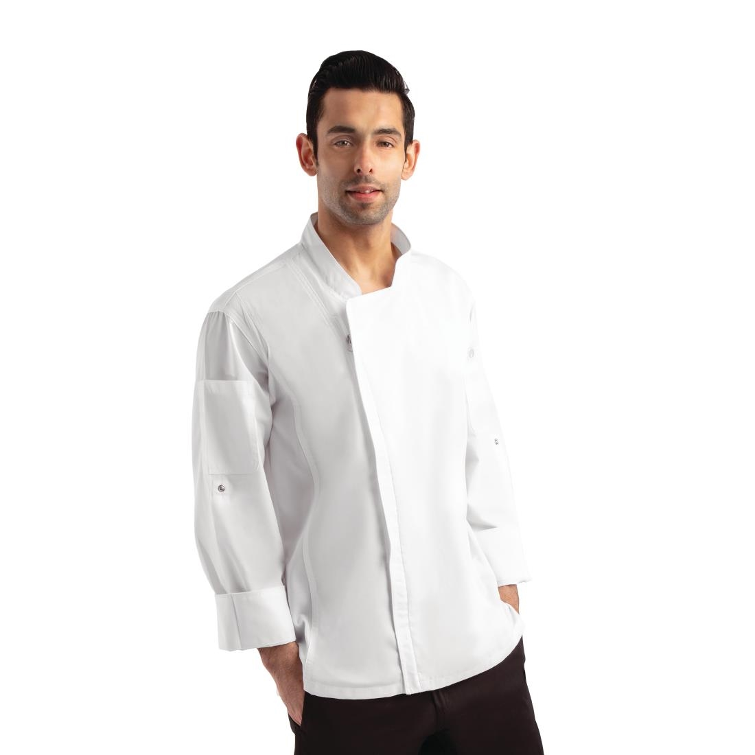 Click to view product details and reviews for Chef Works Unisex Hartford Lightweight Chef Jacket White Size L.