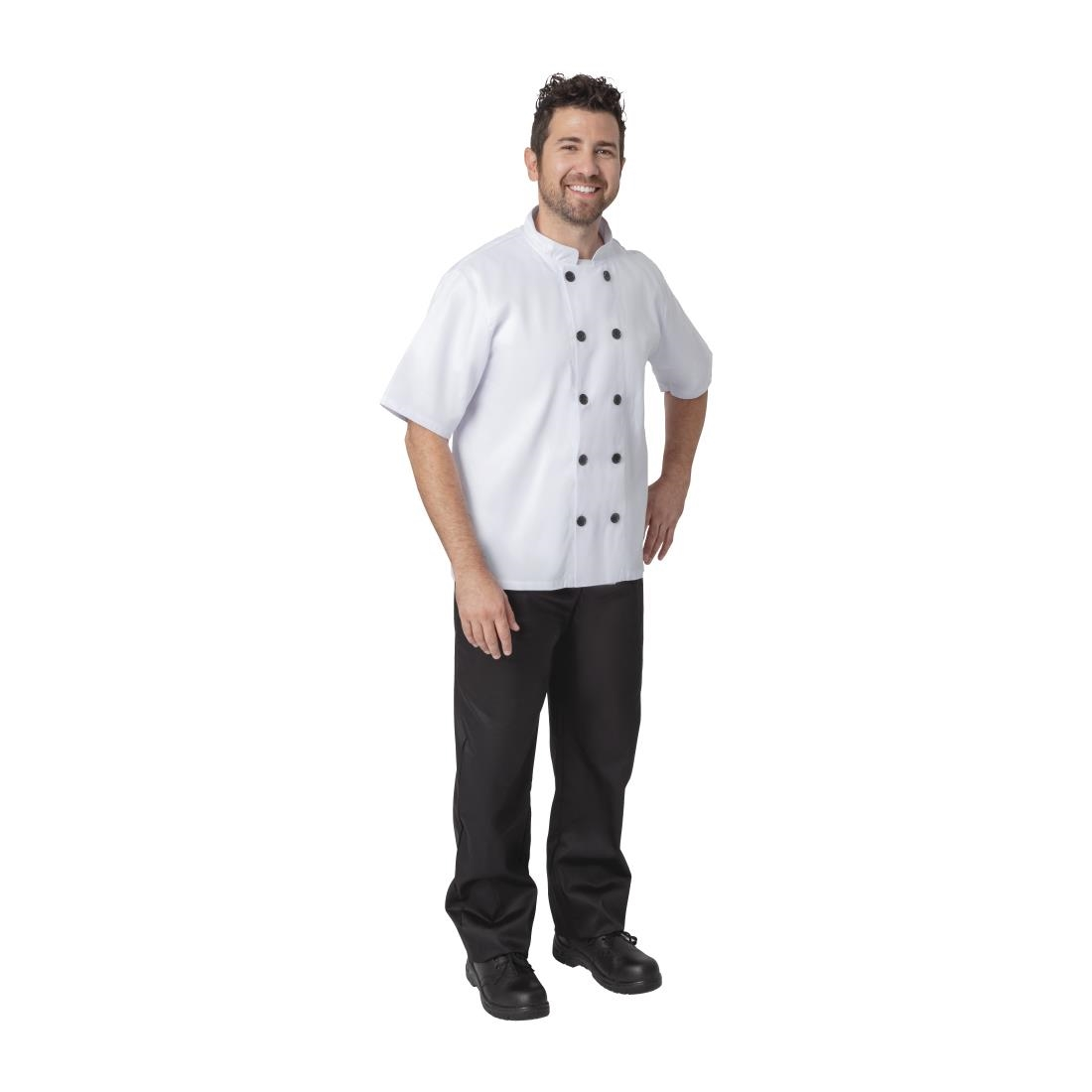 Click to view product details and reviews for Nisbets Essentials Short Sleeve Chefs Jacket White L Pack Of 2 Pack Of 2.