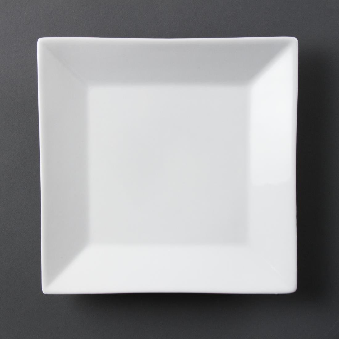Olympia Whiteware Square Plates Wide