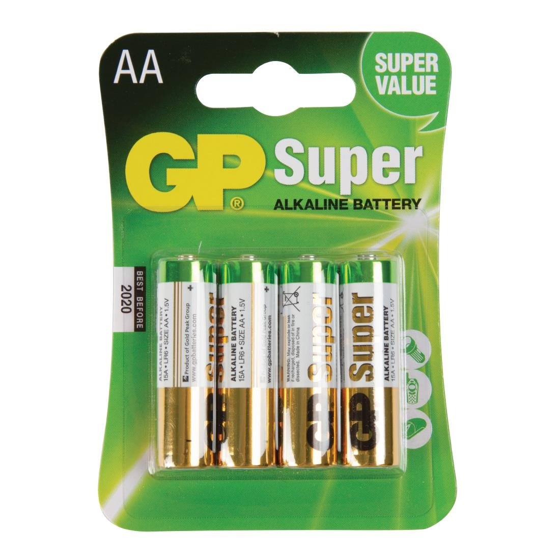 Image of AA Size Batteries (Pack of 4) Pack of 4