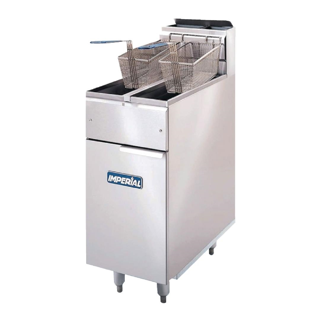 Imperial Twin Tank Twin Basket Free Standing Natural Gas Fryer IFS-2525