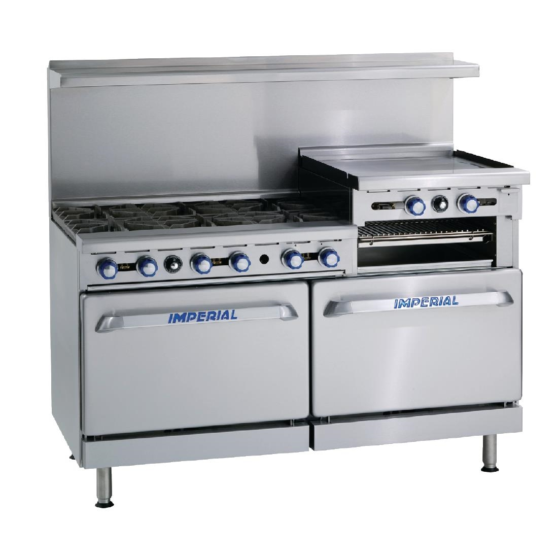 Imperial 6 Burner Natural Gas Oven Range with Griddle IR6RG24-N