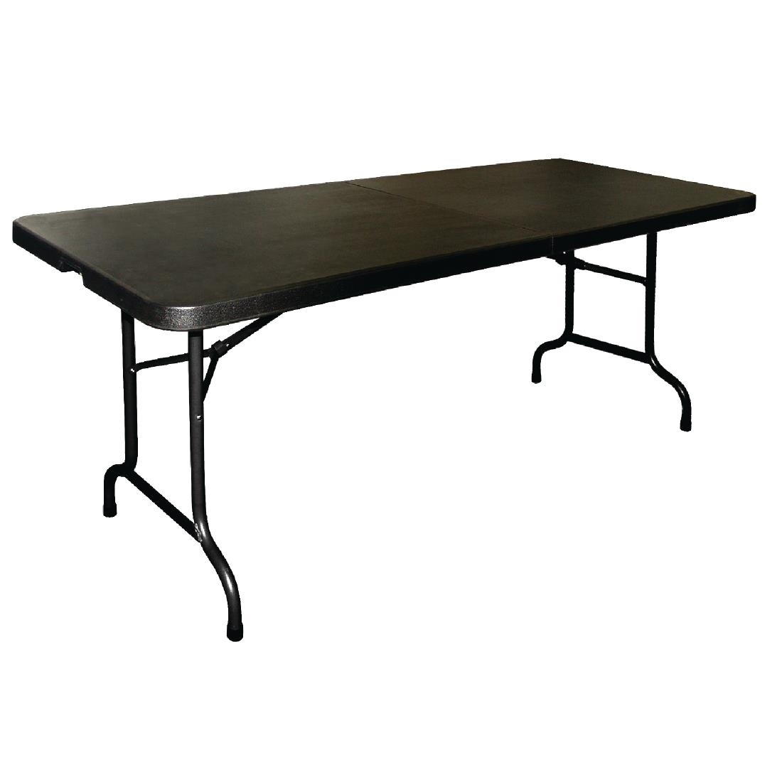 Bolero Centre Folding Utility Table 6ft Black CB518 Buy line