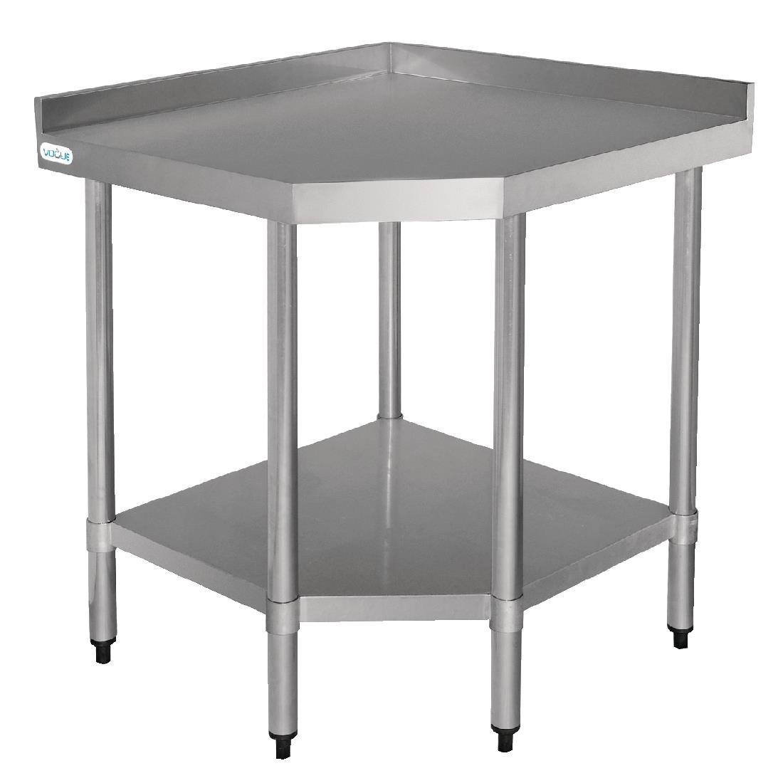 Vogue Stainless Steel Corner Table 600mm CB907 Buy Online at