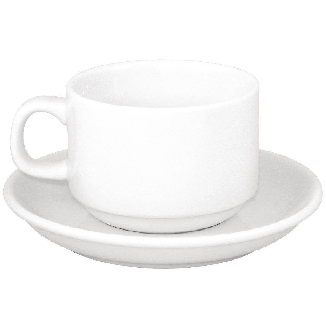 ... Sale Offer : Athena Hotelware Stacking Cup CC200 & Saucer CC202 (Box  24) Combo