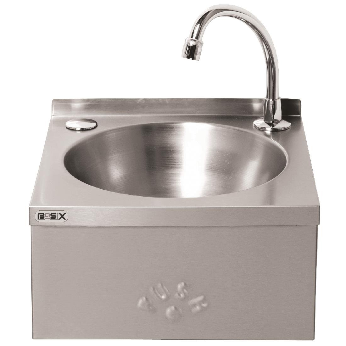 Elegant ... Basix Stainless Steel Knee Operated Hand Wash Basin