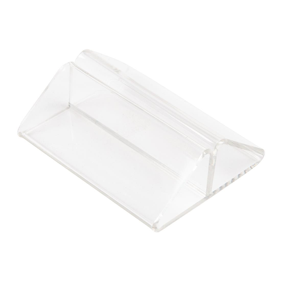 Image of Acrylic Triangle Menu Holder