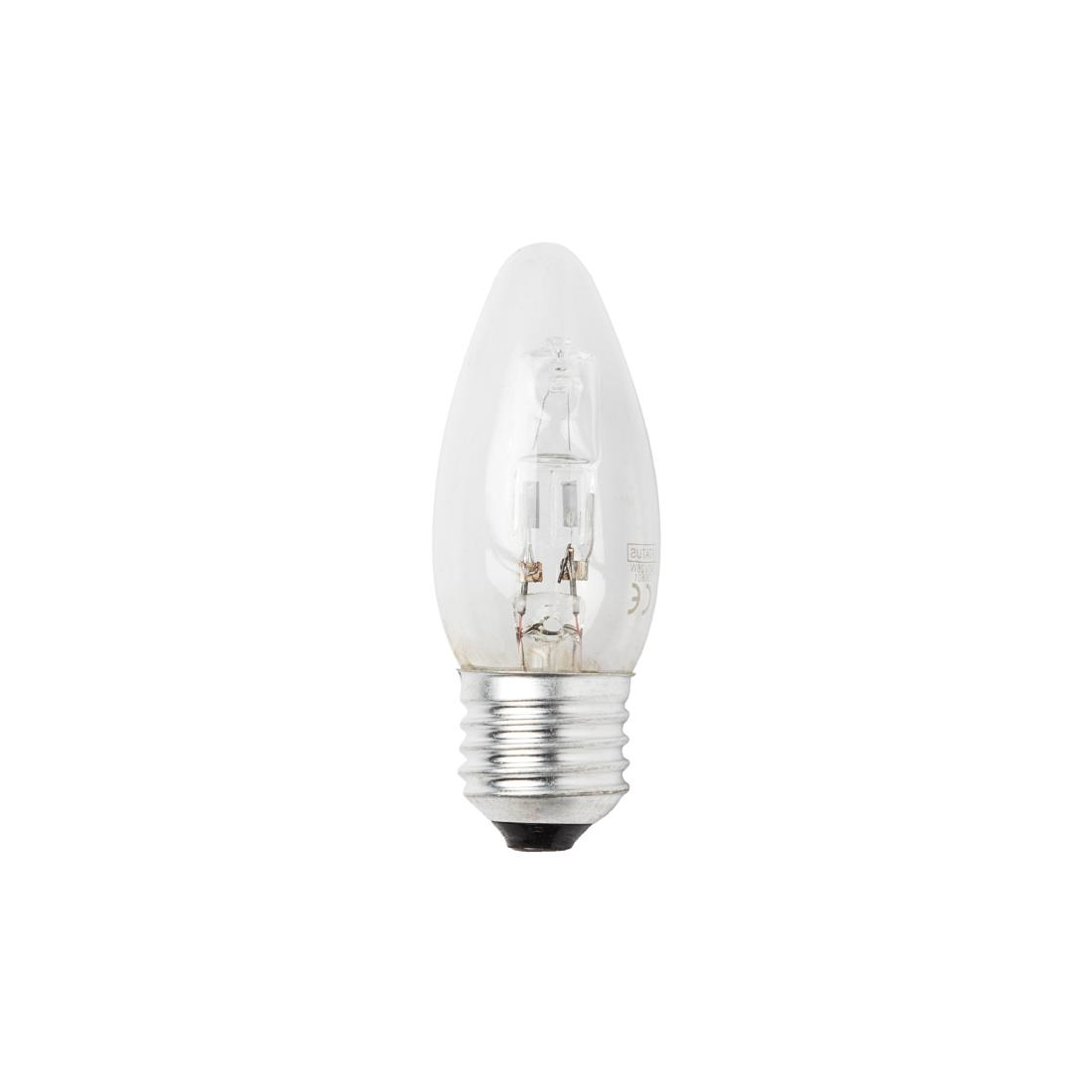 Image of Status Halogen Energy Saving Candle Bulb 28W