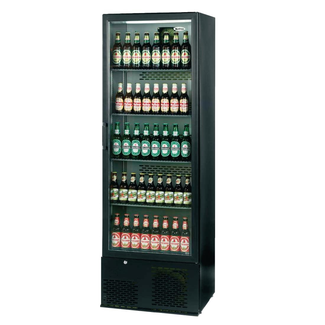 Image of Infrico Upright Back Bar Cooler with Hinged Door in Black ZX10