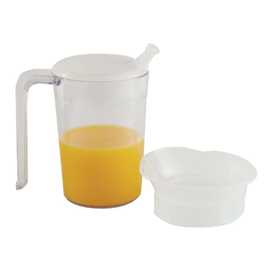 Image of Clear Mug with Handle & 2 lids