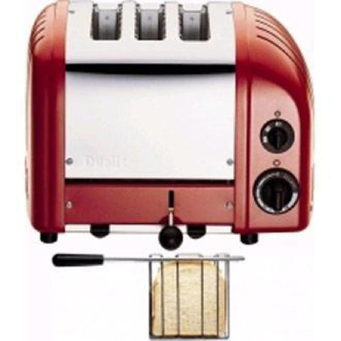 Image of Dualit 2 + 1 Combi Vario 3 Slice Toaster Red 31214
