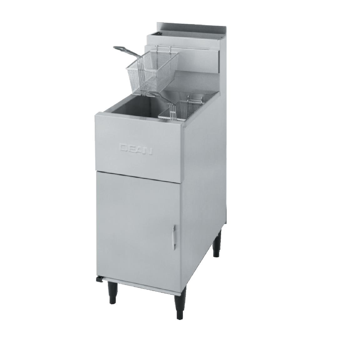 Dean Single Tank Twin Basket Free Standing Natural Gas Fryer SR42
