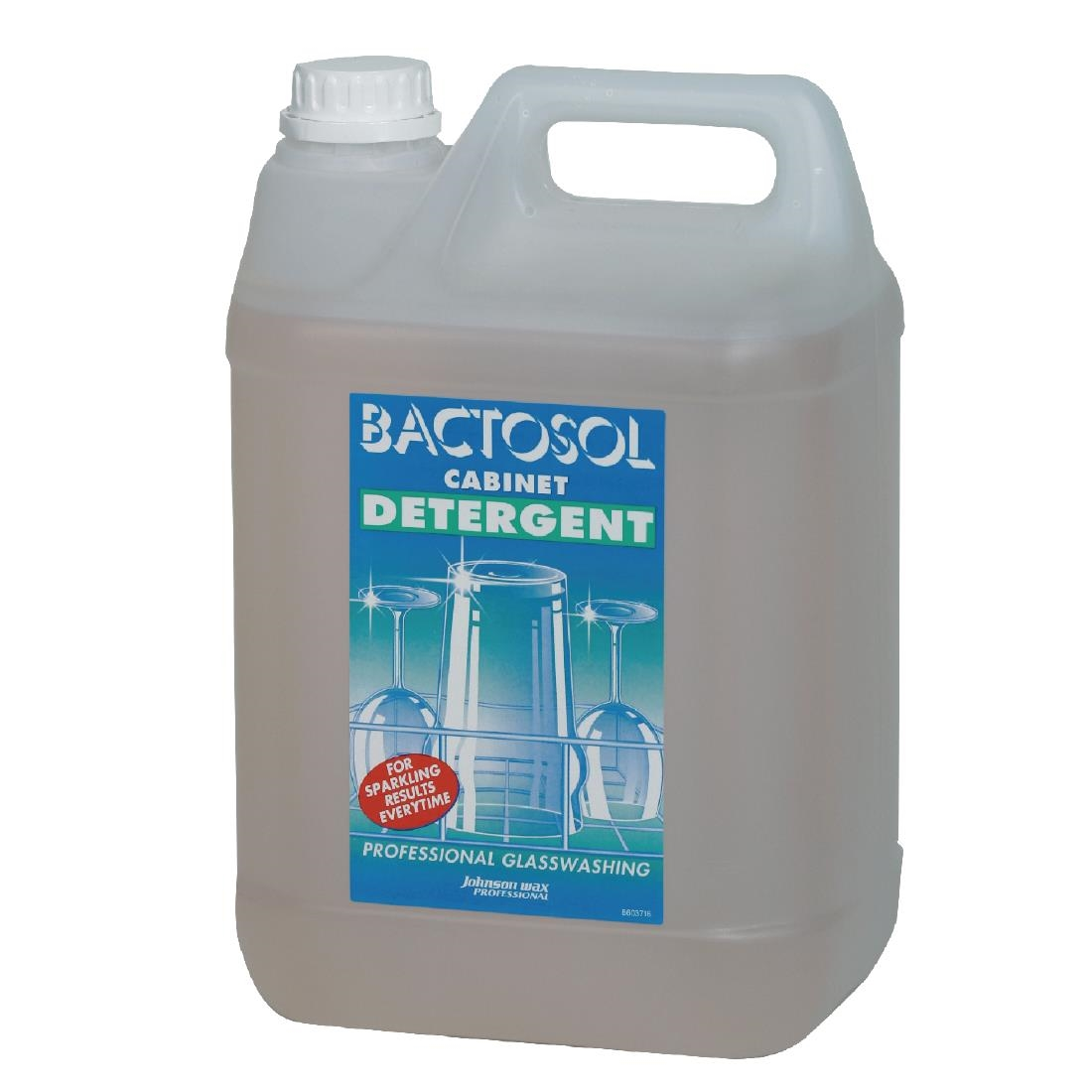 Image of Bactosol Glasswasher Detergent Concentrate 5Ltr (2 Pack) Pack of 2