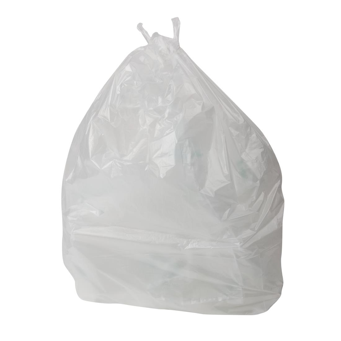 Image of Jantex Large Light Duty Clear Bin Bags 90Ltr (Pack of 200) Pack of 200