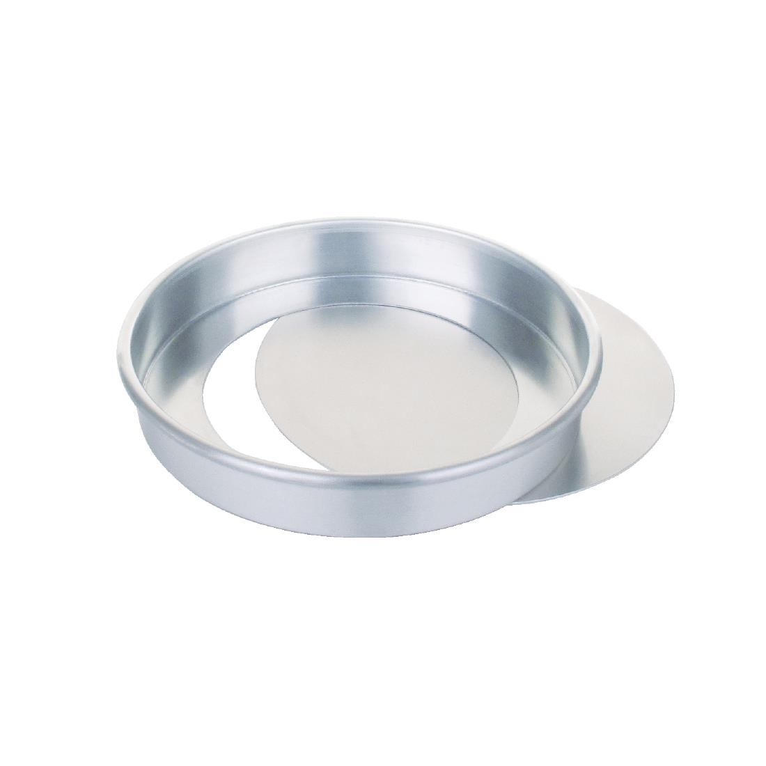 Image of Aluminium Sandwich Cake Tin With Removable Base 200mm
