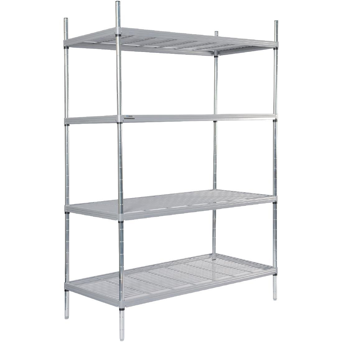 Image of Craven 4 Tier Nylon Coated Wire Shelving 1700x1175x491mm