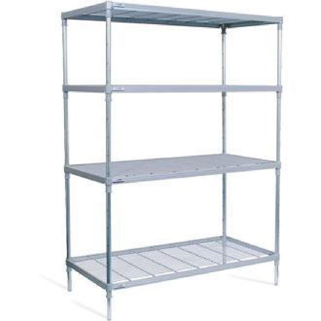 Image of Craven 4 Tier Nylon Coated Wire Shelving 1700x1475x391mm