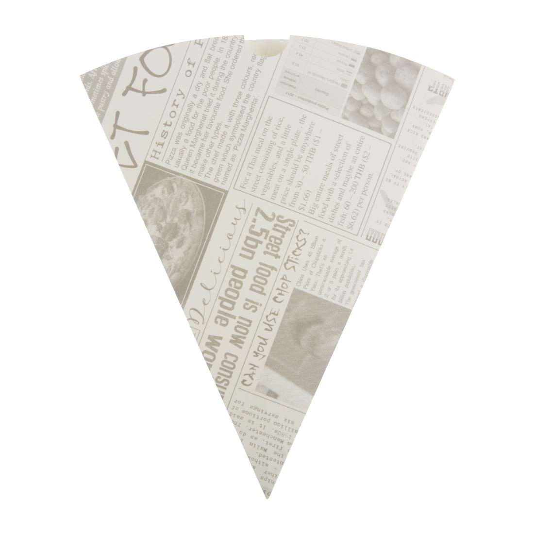 Image of Colpac Biodegradable Newspaper Print Paper Chip Cones 183mm (Pack of 1000) Pack of 1000