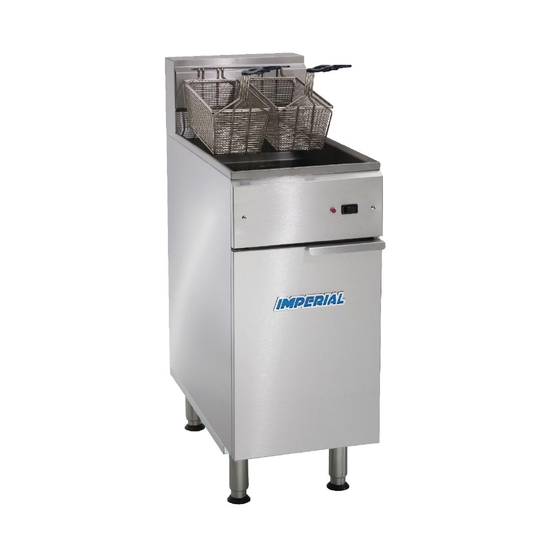 Imperial Single Tank Twin Basket Free Standing Electric Fryer IFS-40-E-LOE