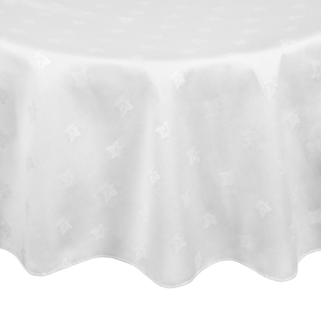 Image of Mitre Luxury Luxor Round Tablecloth White 1725mm