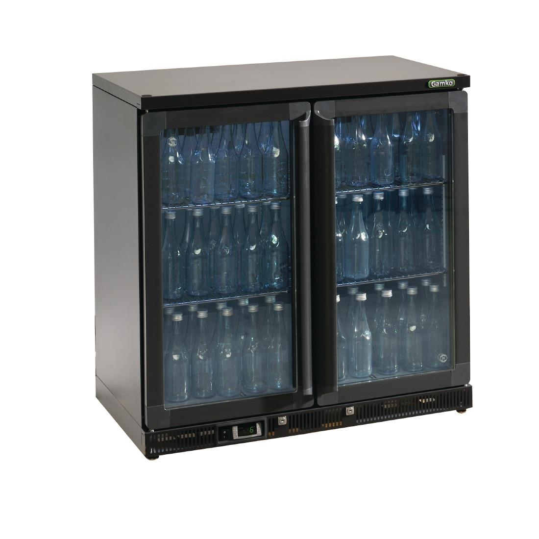 Gamko Bottle Cooler - Double Hinged Door 250 Ltr Black