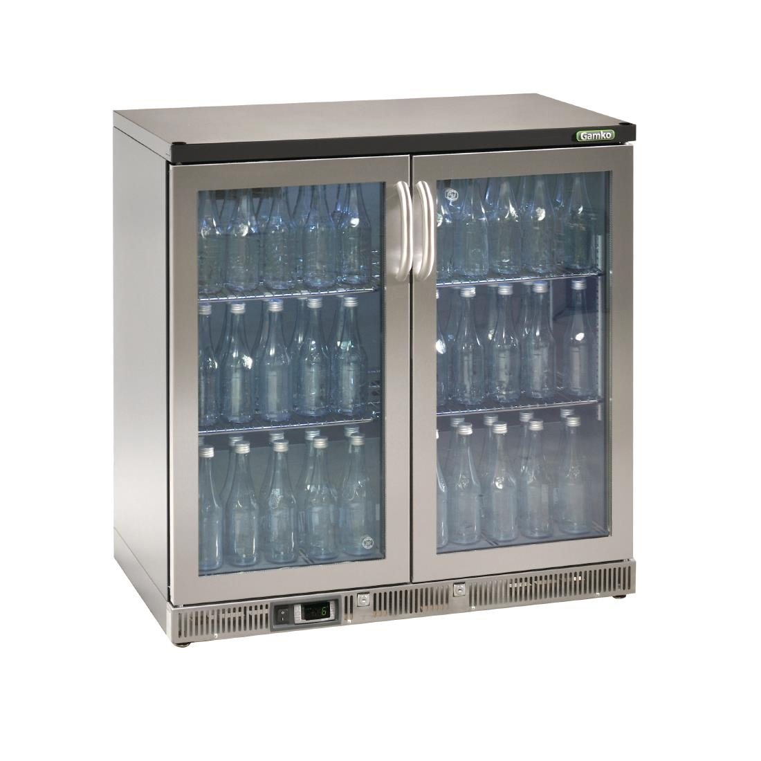 Gamko Bottle Cooler - Double Hinged Door 250 Ltr Stainless Steel
