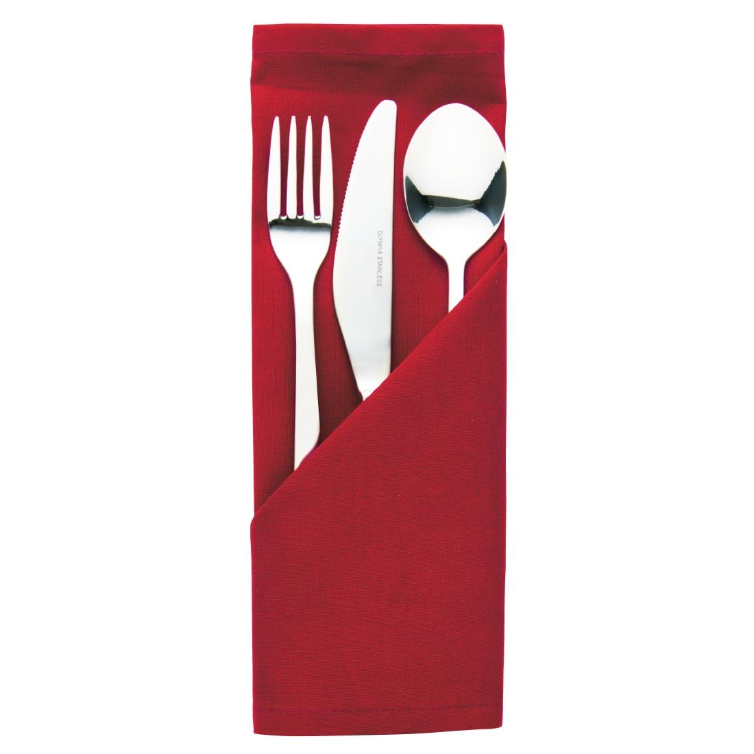 Image of Occasions Polyester Napkins Burgundy (Pack of 10) Pack of 10