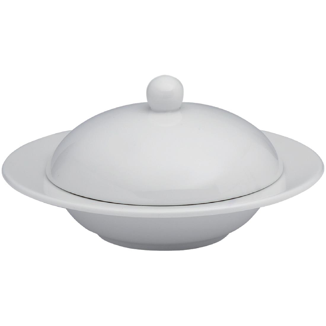 Image of Elia Glacier Fine China Covered Butter Dishes 115mm (Pack of 4) Pack of 4