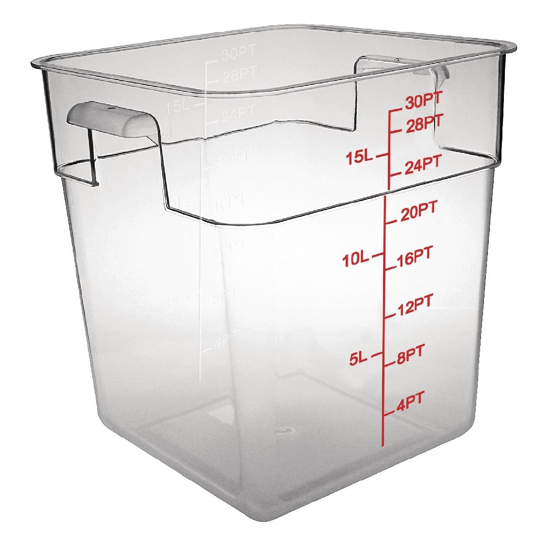 Polycarbonate Square Storage Container - 15Ltr Polycarbonate Square Storage Container - 15Ltr  sc 1 st  Nisbets & Vogue Polycarbonate Square Storage Container 15Ltr - CF025 - Buy ...