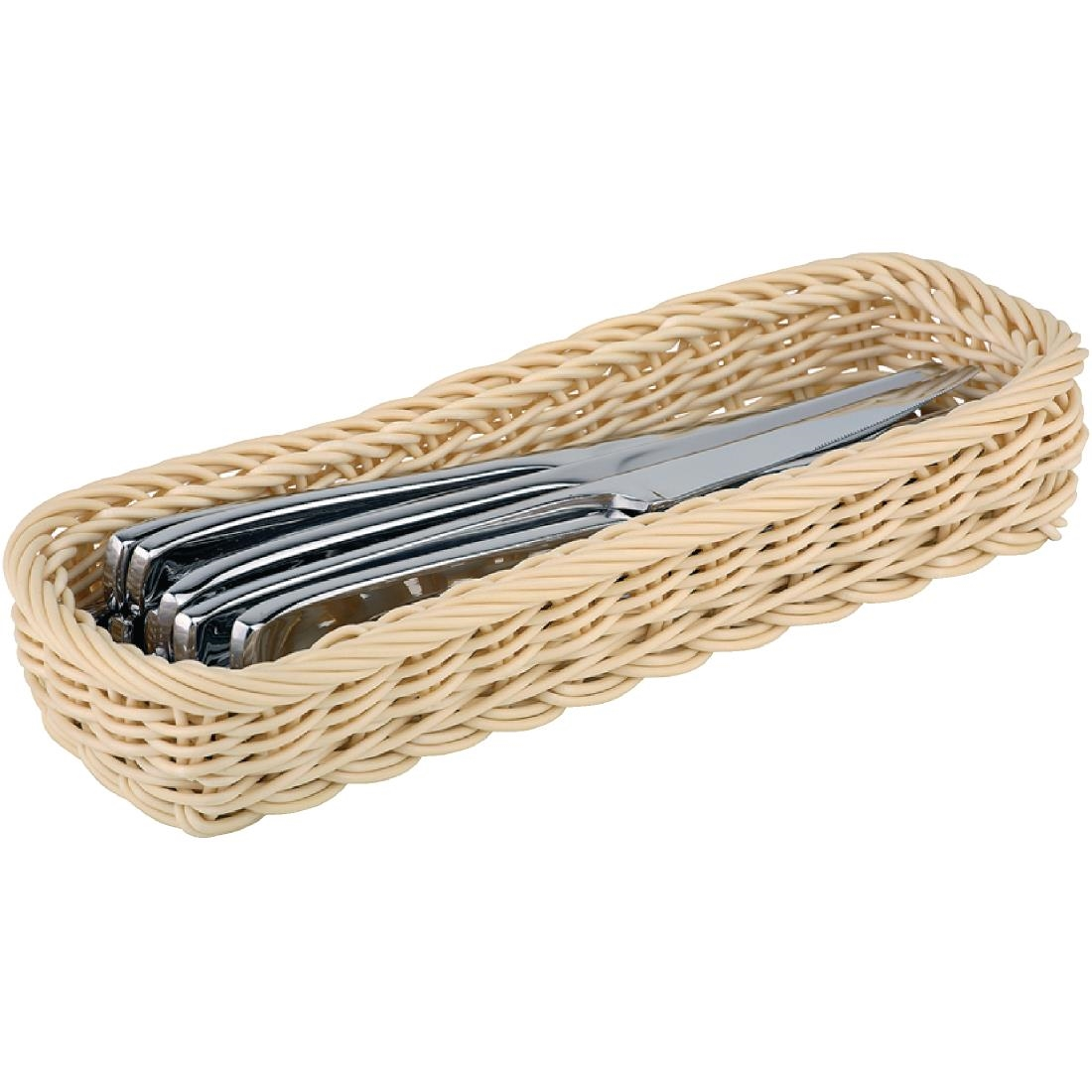 Image of APS Polypropylene Rectangular Rattan Basket