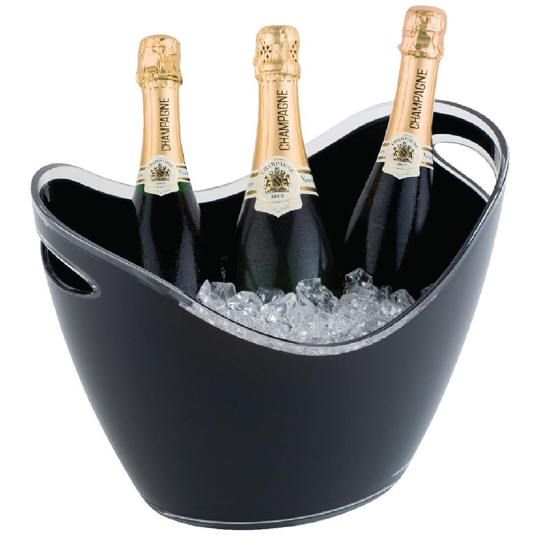 Image of APS Black Acrylic Wine And Champagne Bucket Large