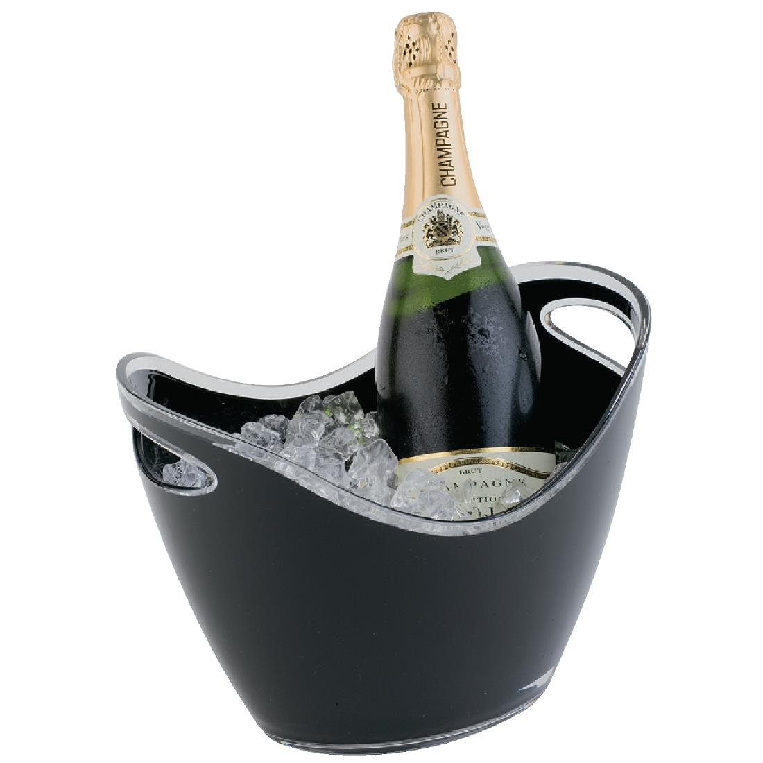 Image of APS Black Acrylic Wine And Champagne Bucket