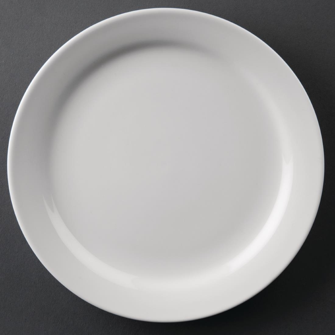 Image of Athena Hotelware Narrow Rimmed Plates 165mm (Pack of 12) Pack of 12