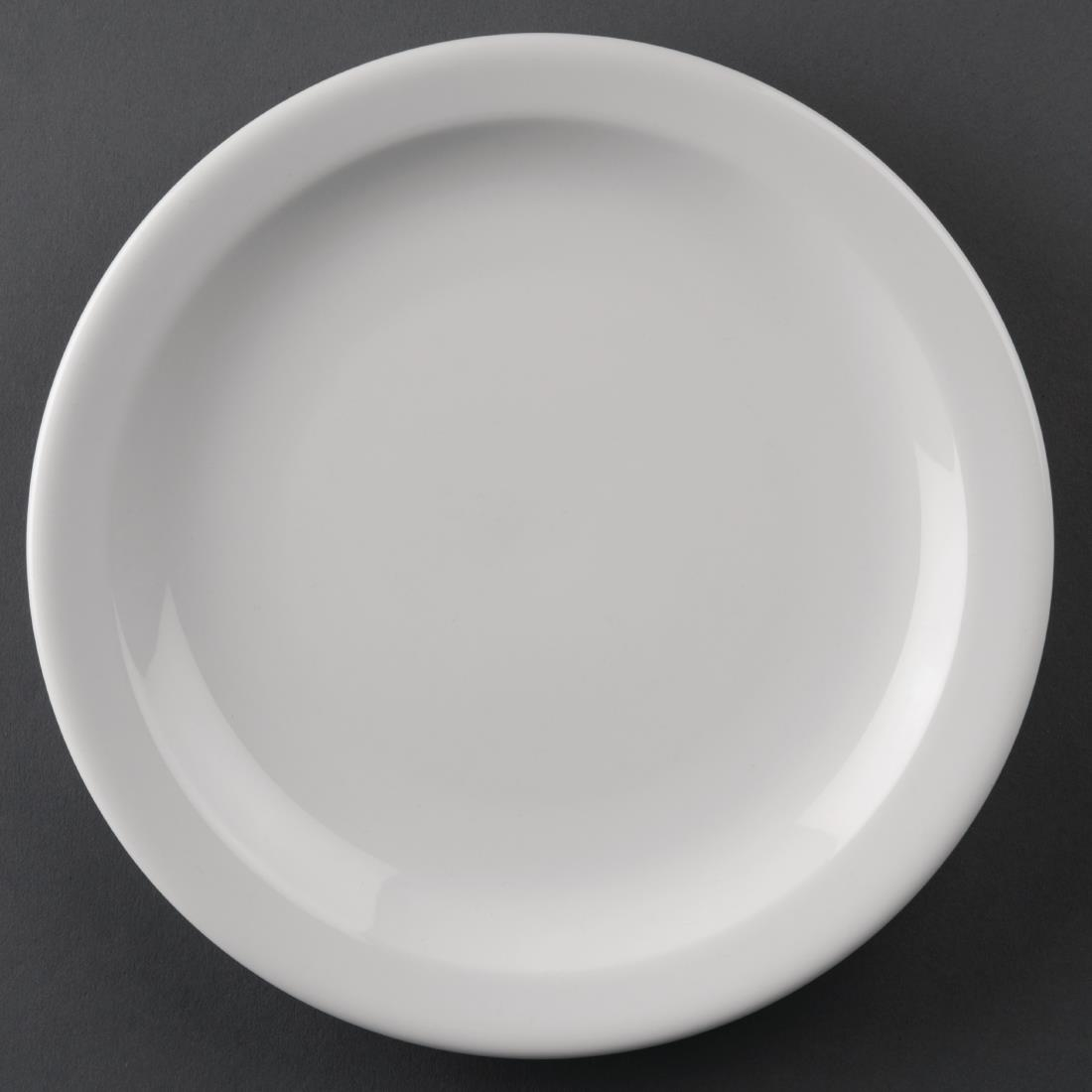Image of Athena Hotelware Narrow Rimmed Plates 205mm (Pack of 12) Pack of 12