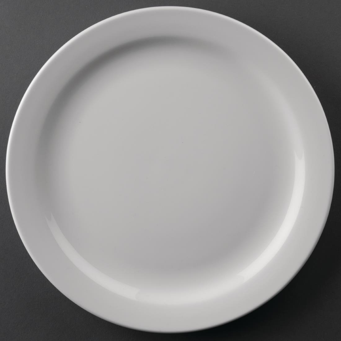 Image of Athena Hotelware Narrow Rimmed Plates 226mm (Pack of 12) Pack of 12
