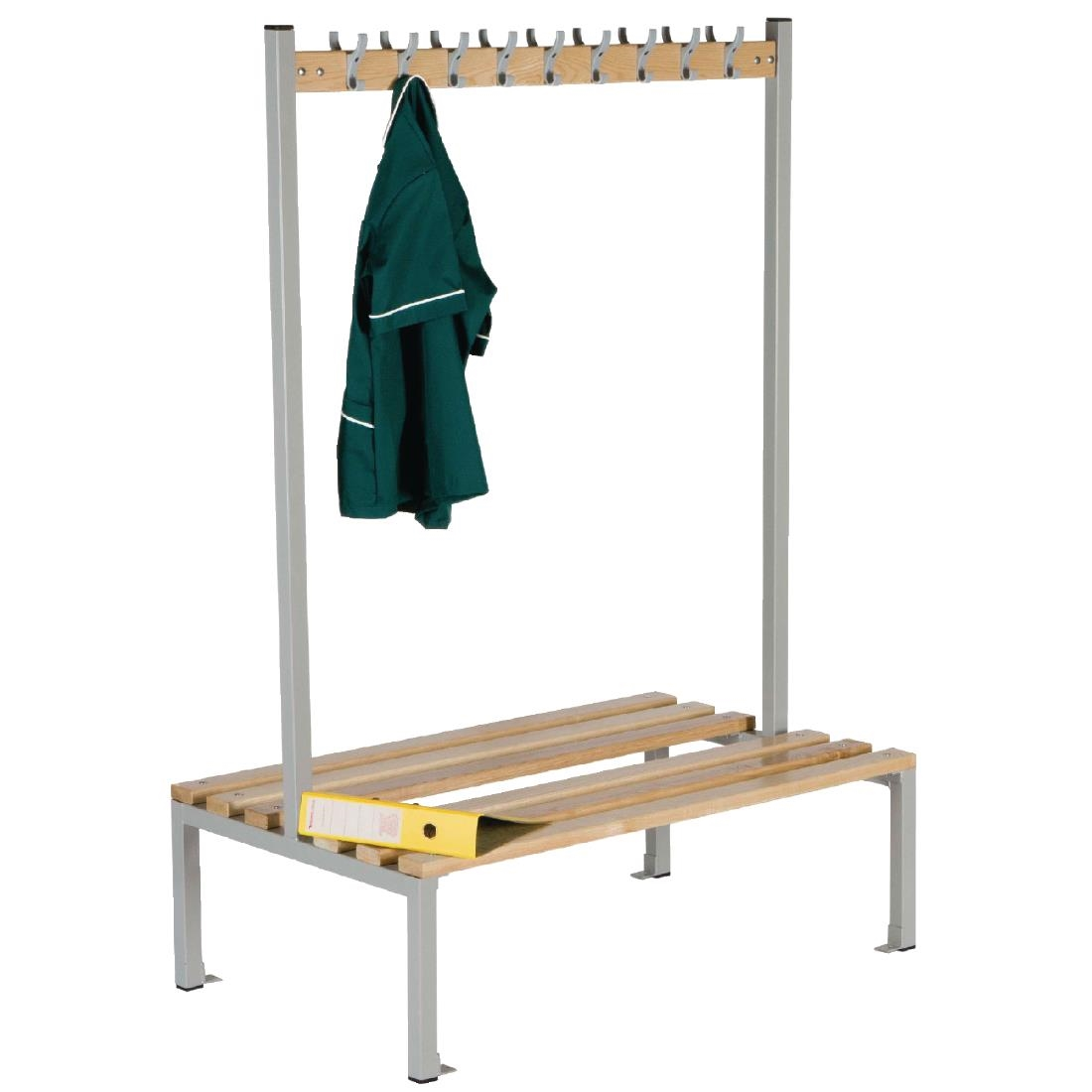 Image of Double Sided Coat Hanger Bench 1200mm