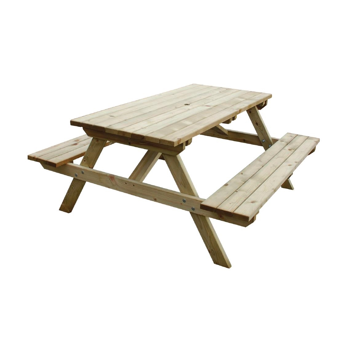 wooden picnic bench 5ft - cg095 - buy online at nisbets