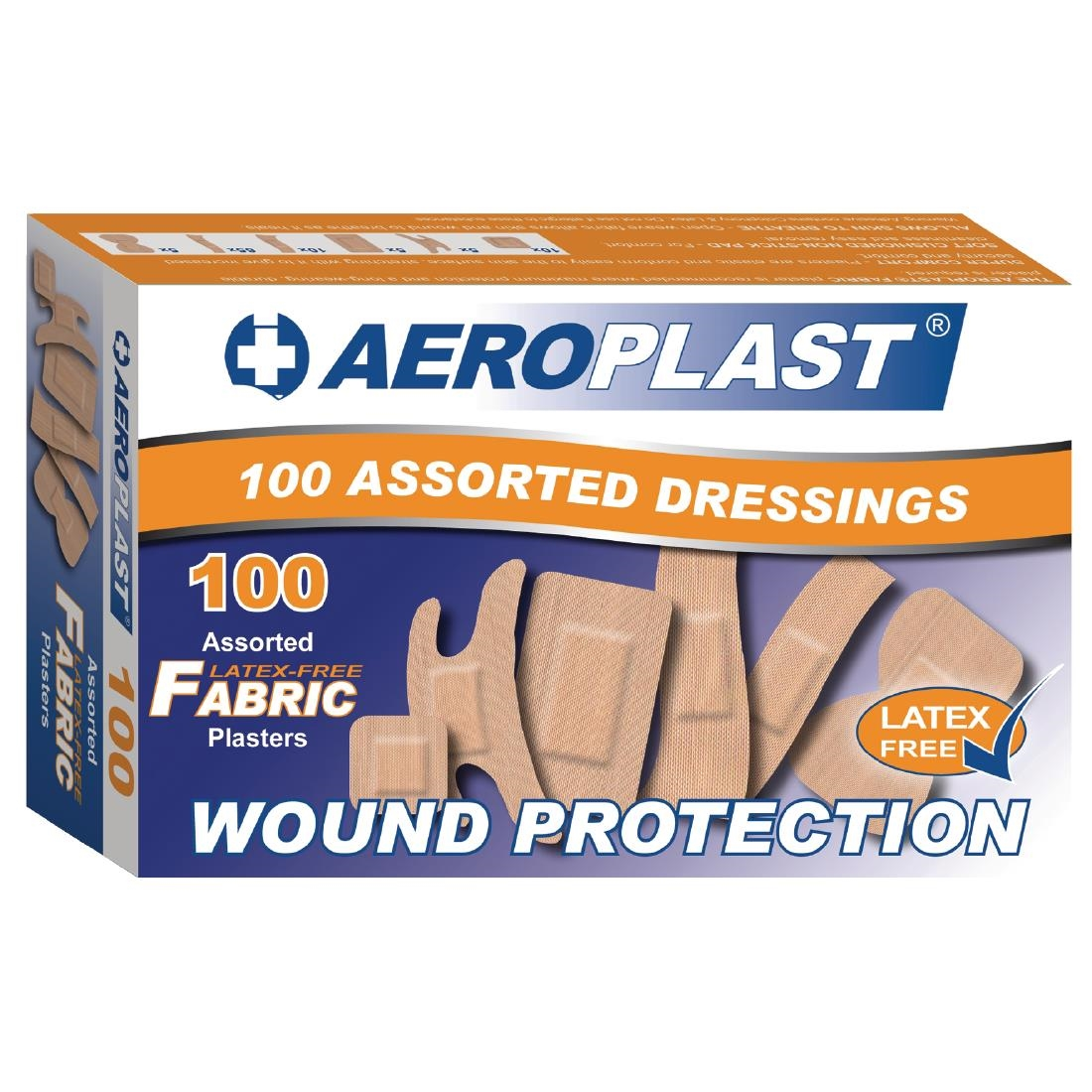 Image of Aeroplast Latex Free Assorted Plasters (Pack of 100) Pack of 100