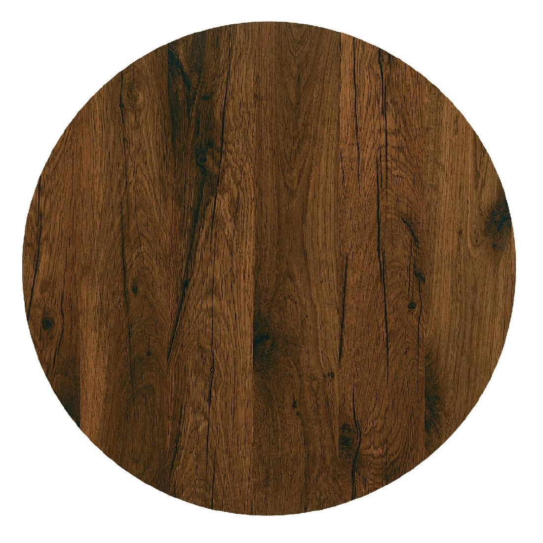 Werzalit Pre Drilled Round Table Tops Antique Oak