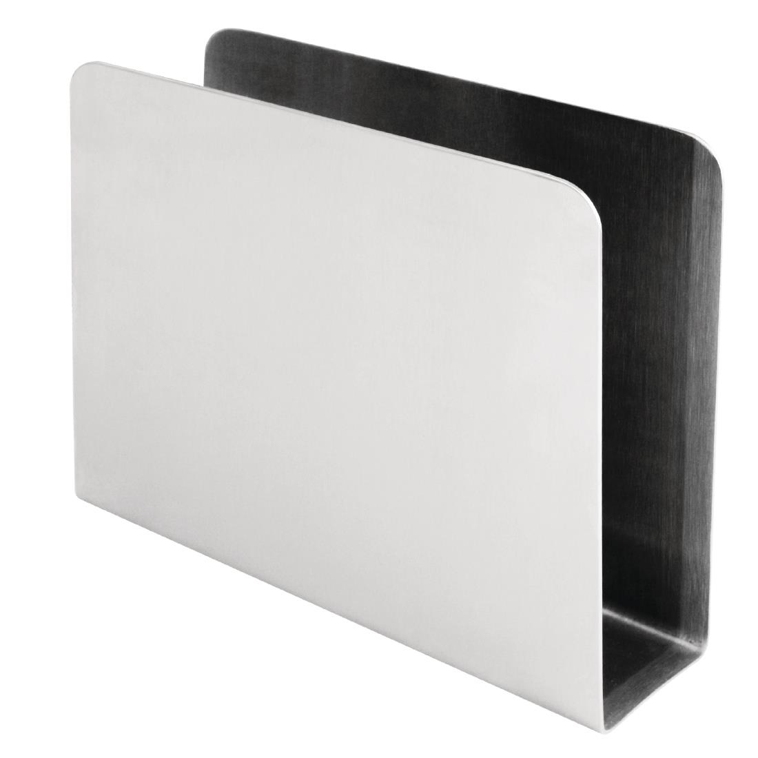 napkin holder stainless steel  cl  buy online at nisbets - napkin holder plain napkin holder plain