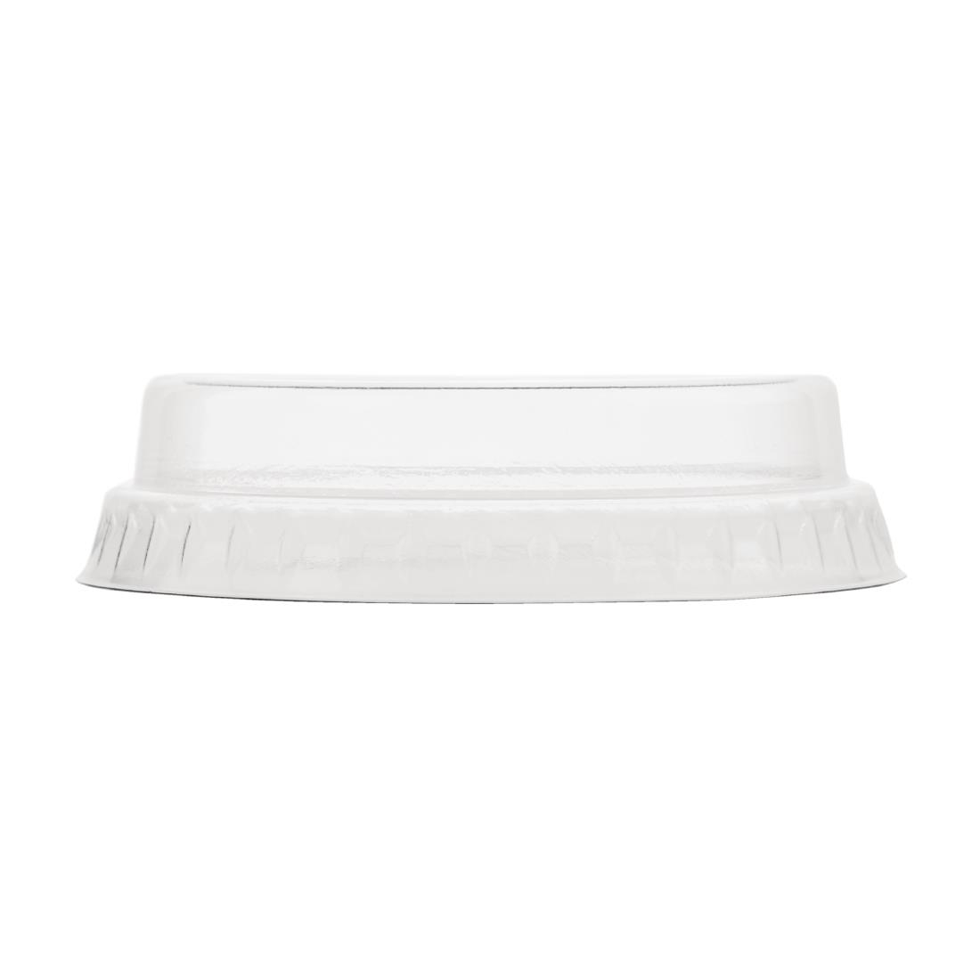 Vegware Compostable Flat Lids With No Hole 200ml / 7oz Pack of 1000