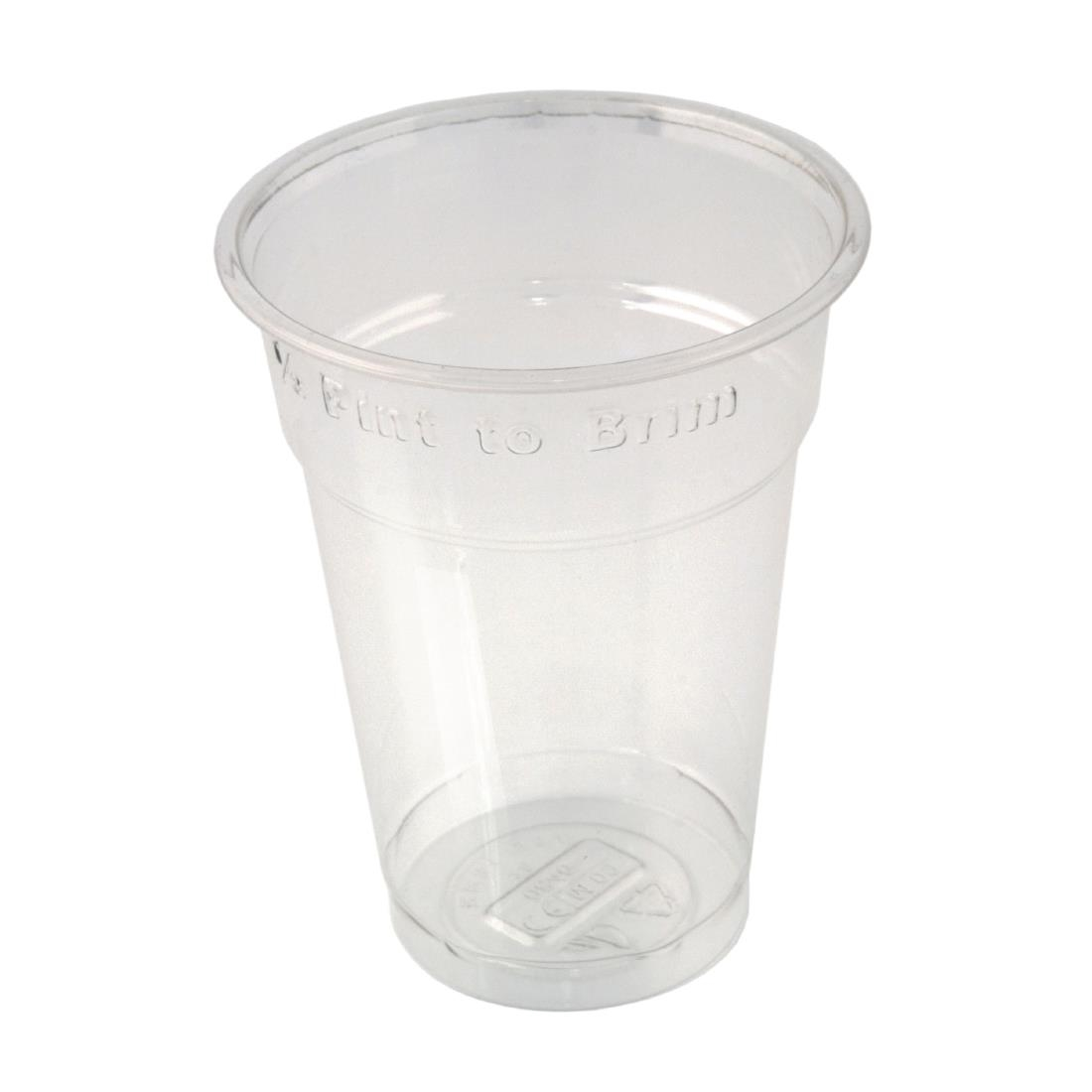 Image of Huhtamaki Disposable Half Pint to Brim Tumbler (Pack of 1000) Pack of 1000