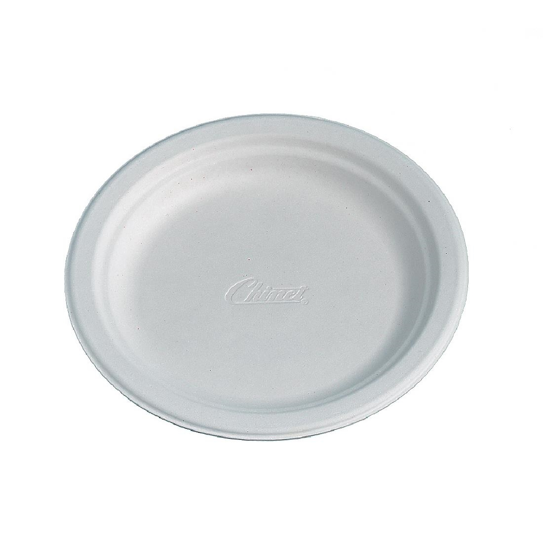 Image of Huhtamaki Compostable Moulded Fibre Chinet Plates 170mm (Pack of 175) Pack of 175