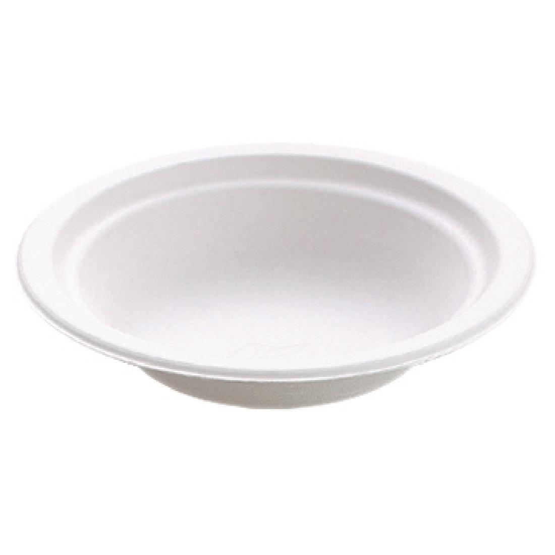 Image of Huhtamaki Compostable Moulded Fibre Chinet Bowls 16oz (Pack of 125) Pack of 125