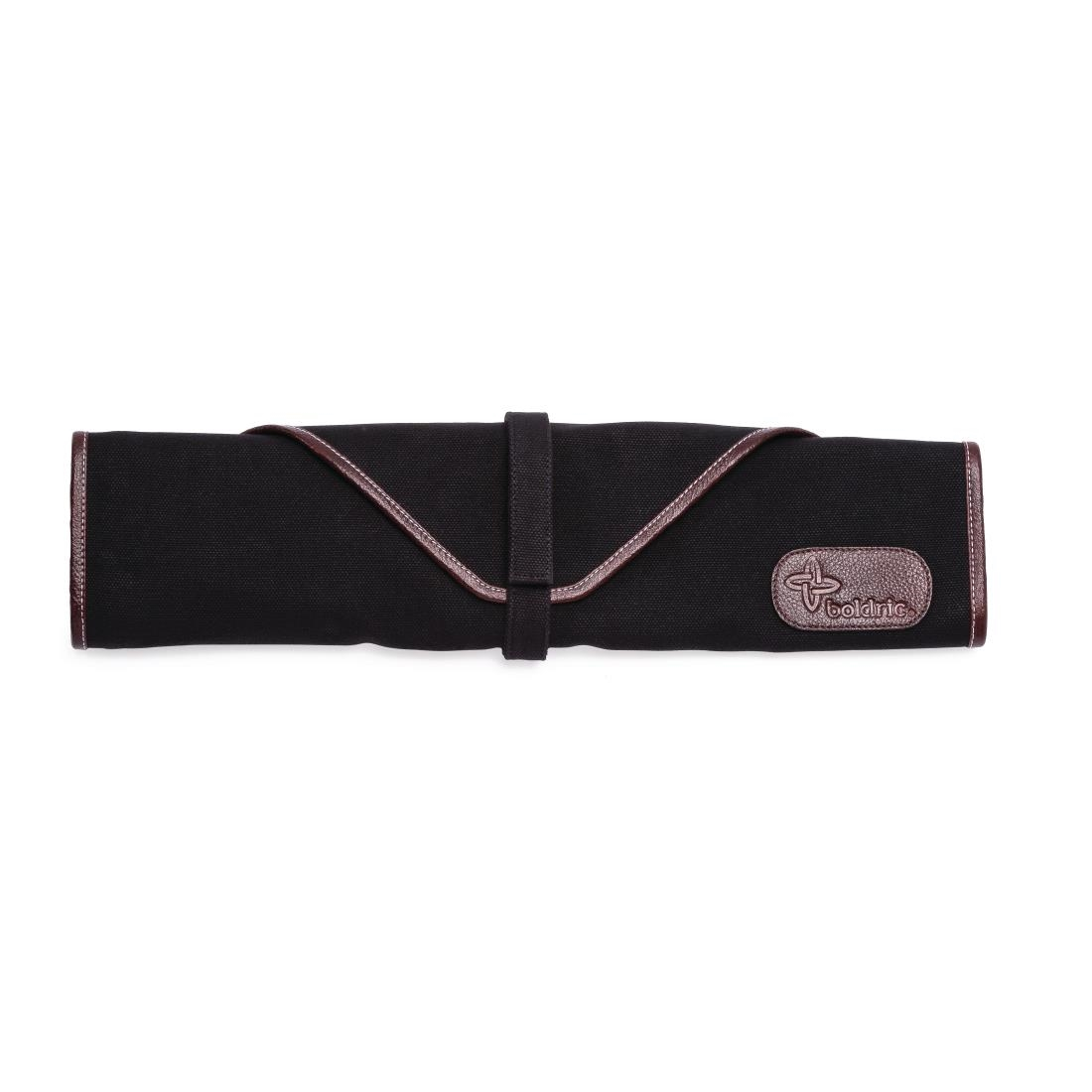 Image of Boldric Canvas Knife Bag Black 6 Slots