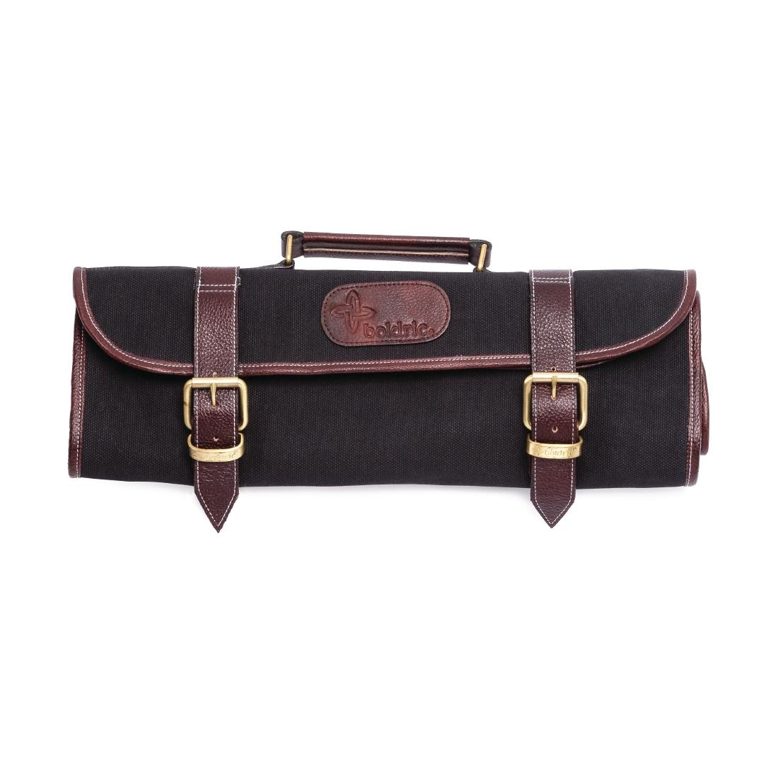 Image of Boldric Canvas Knife Bag Black 9 Slots