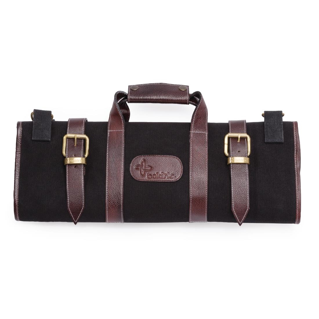 Image of Boldric Canvas Knife Bag Black 17 Slots